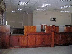 bank service counter