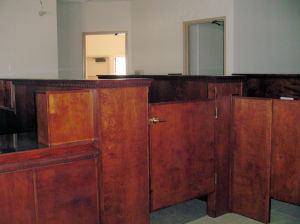 bank swing door