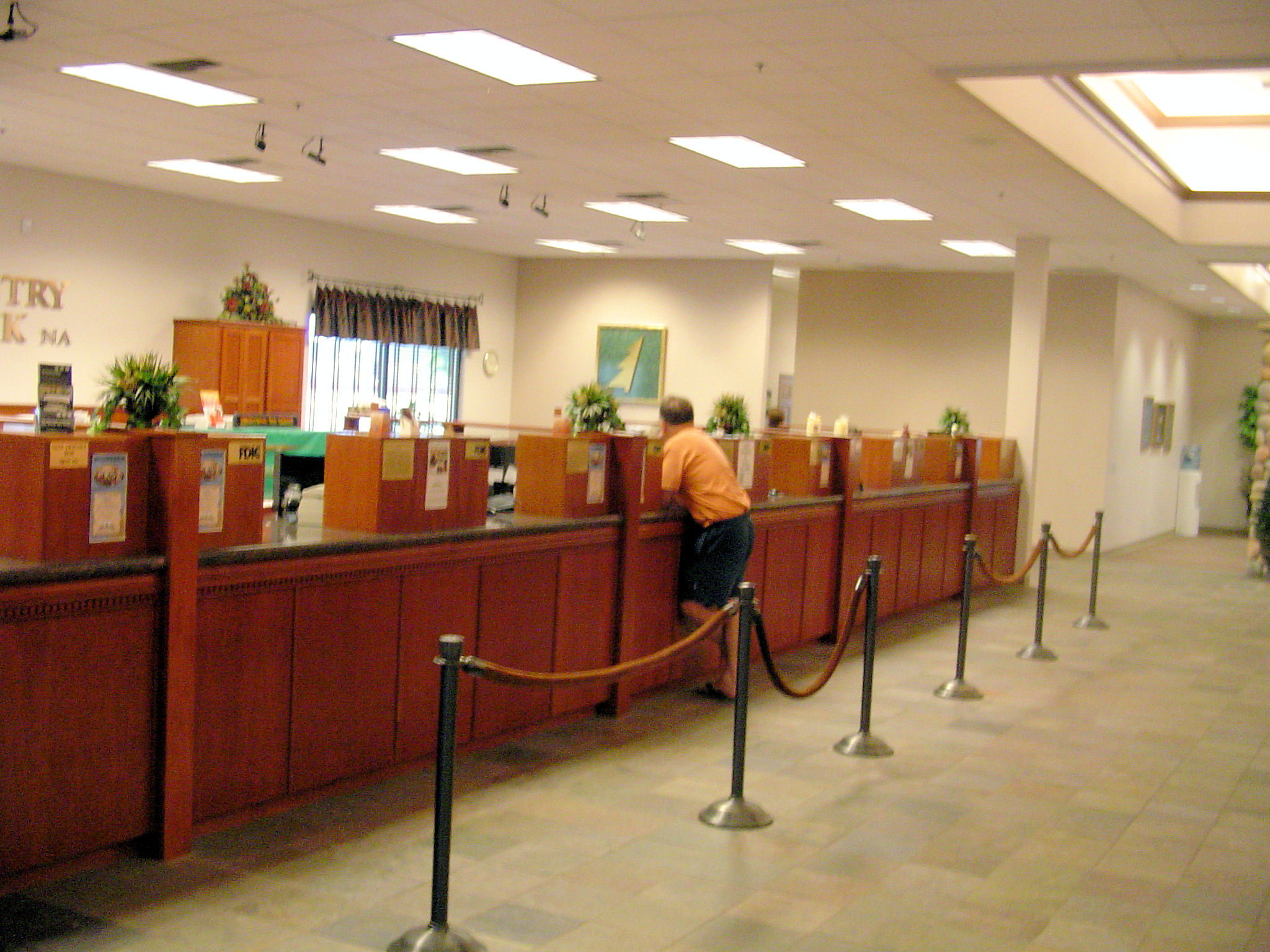 bank counter