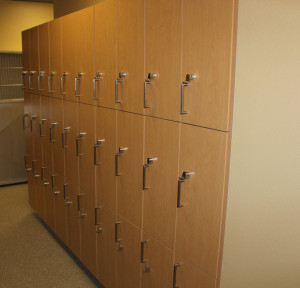 Custom wall lockers