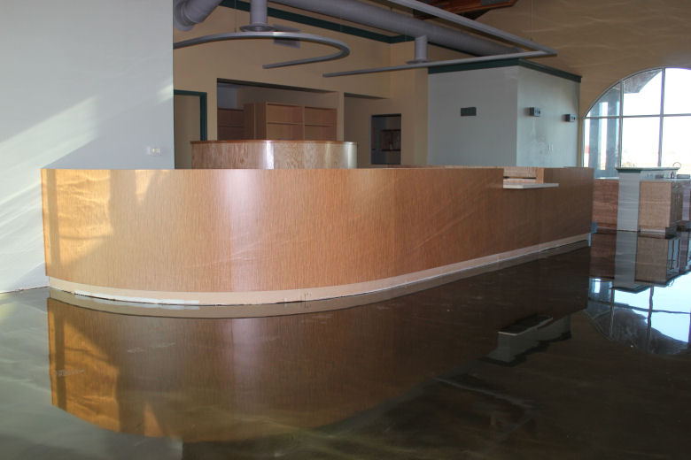 curved reception area